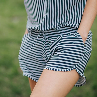 Comfortable Striped Romper
