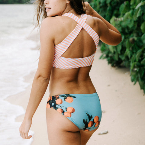 Peachy Keen Game Changer Swim Crop