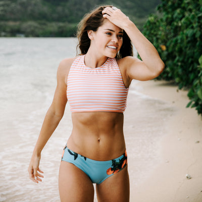 Game Changer Swim Crop, Peachy Keen