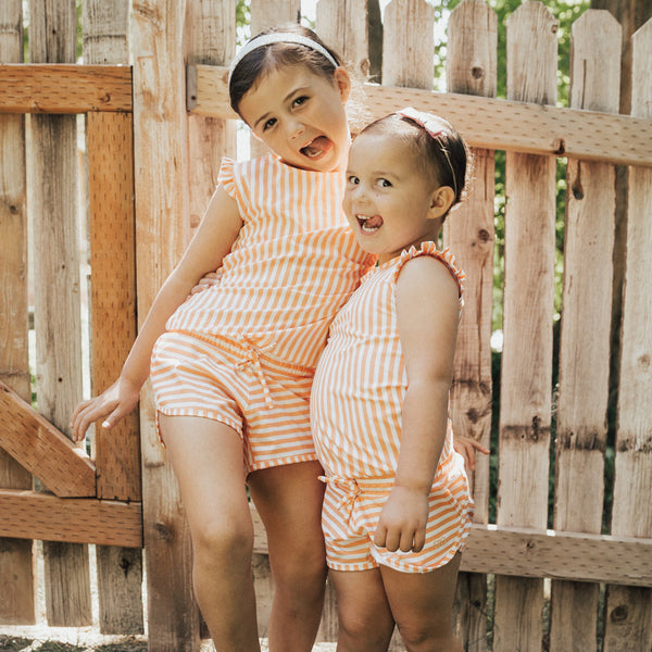 Kid's Romper, Peachy Keen