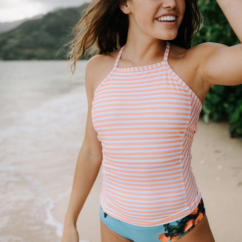 Peachy Keen Tankini Top
