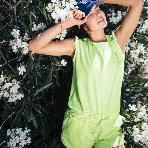 Electric Green Romper - Albion - 2