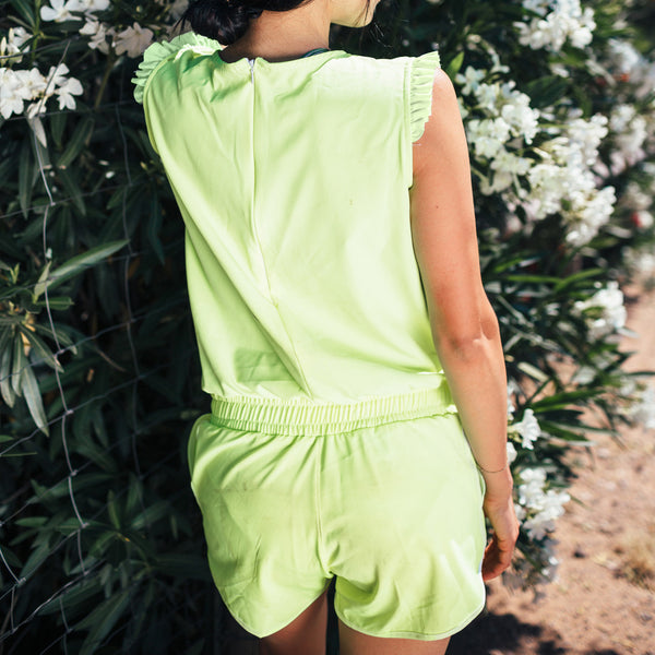 Electric Green Romper - Albion - 3