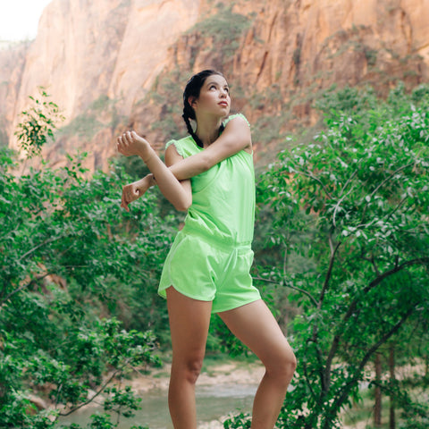 Electric Green Romper - Albion - 1