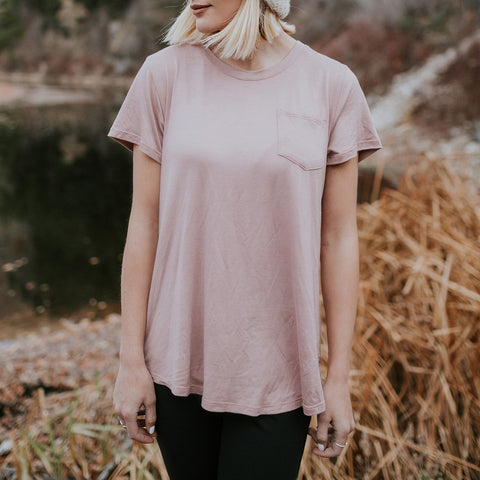 Basic Tee, Rosewood - Albion - 1