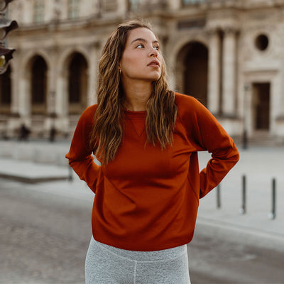 Rust Neo Crop Sweatshirt