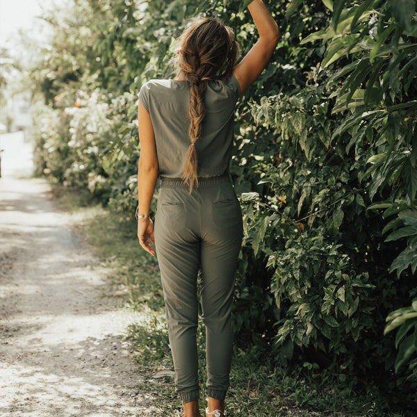 Jumpsuit in Sage for Women