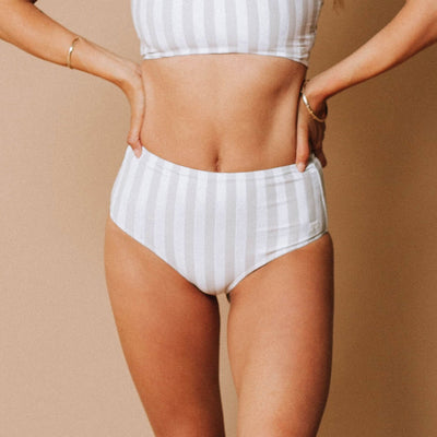 Sandy Stripe High-Waisted Bottoms