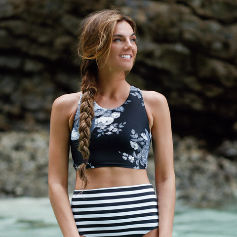 Antigua Slate Game Changer Swim Crop