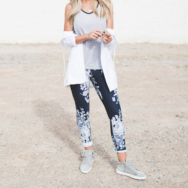 Antigua Slate Extend Leggings - Albion - 6