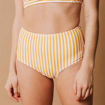 Sunny Stripe High-Waisted Bottoms