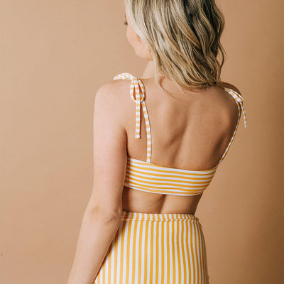 Mary Swim Top, Sunny Stripe