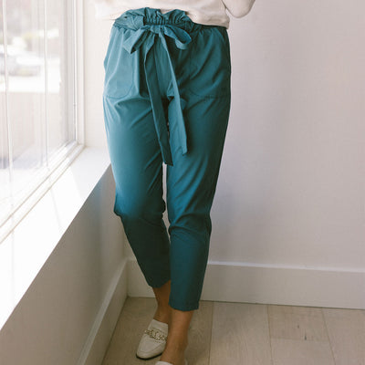 Jade Bow Belt Capri