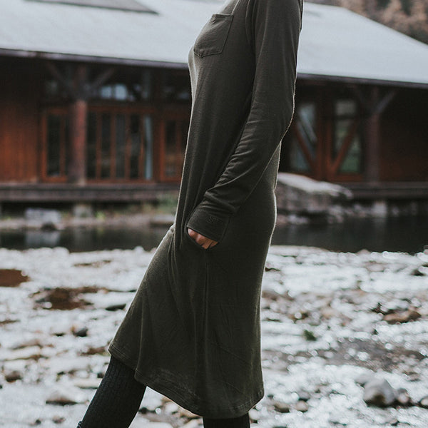 Willow Dress, Olive - Albion - 2