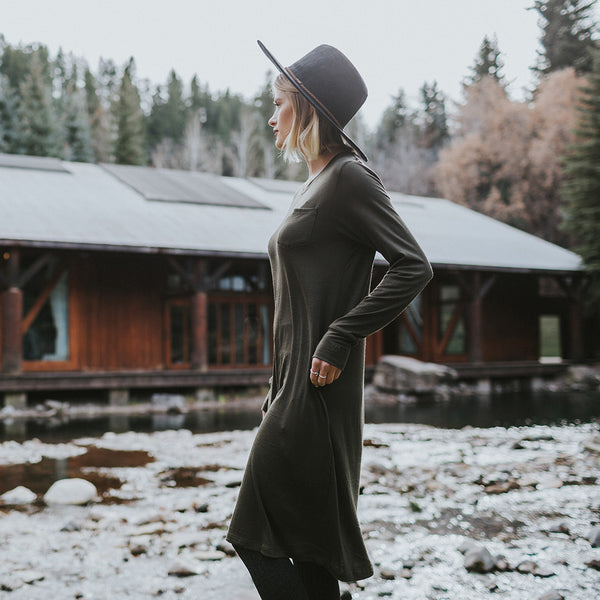 Willow Dress, Olive - Albion - 3
