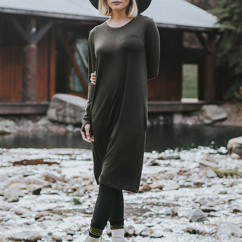Willow Dress, Olive - Albion - 1