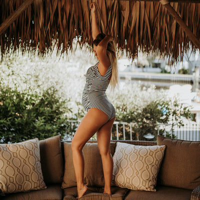 The Brigitte Off Shoulder One-Piece Swimsuit