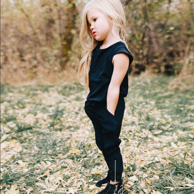 Mini Black Jumpsuit for Kids