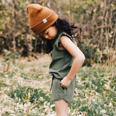 Kids Mini Romper in Sage