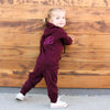 Mini At Ease Joggers, Wine - Albion - 1