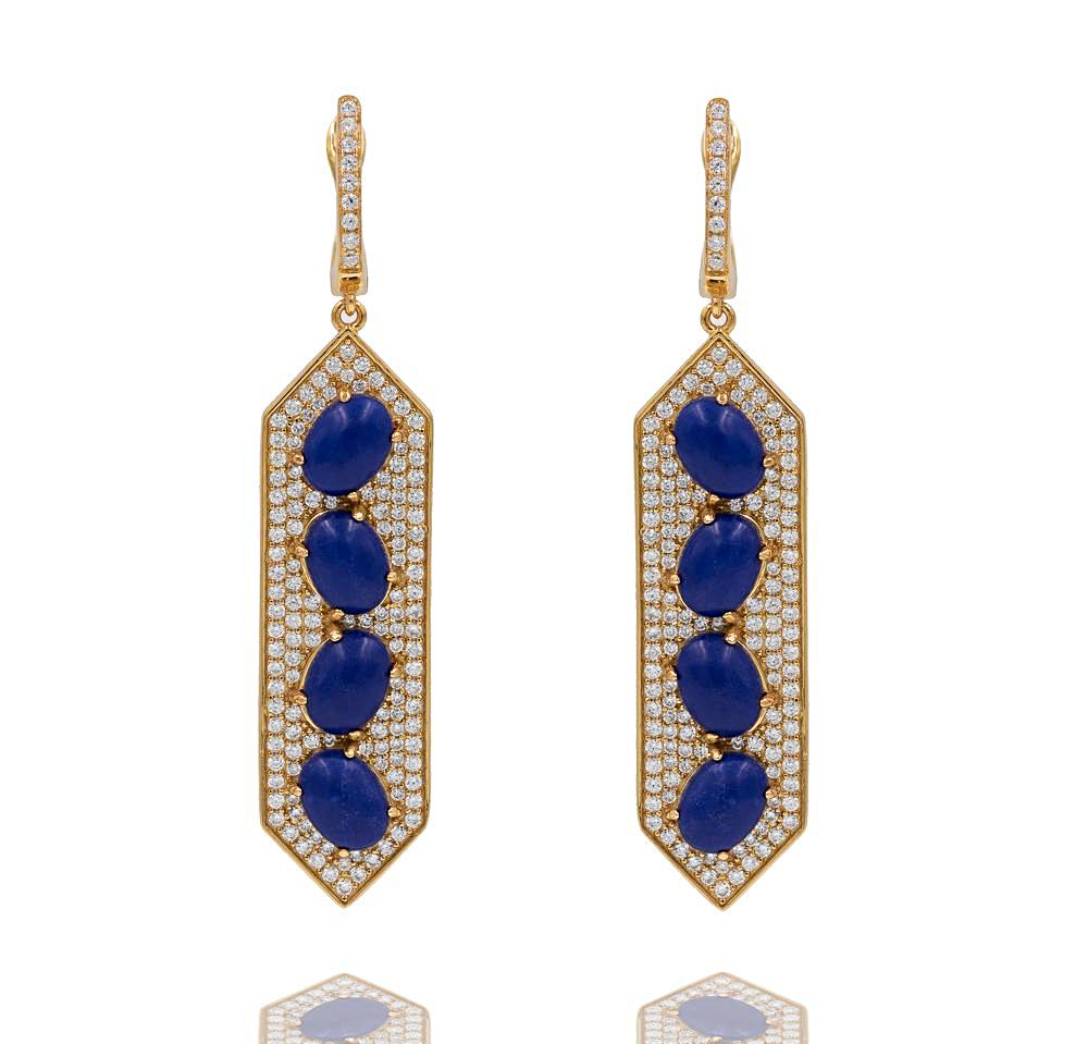 pippa lapis scale plated silver small turquoise lazuli false subsampling vermeil mountain earrings crop and shop product upscale gold