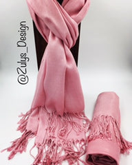 PASHMINA, SHAWL, SCARF HOT PINK SOLID COLOR