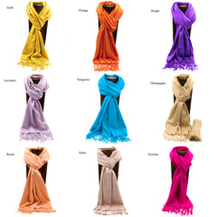 PASHMINA, SHAWL, SCARF GOLD SOLID COLOR