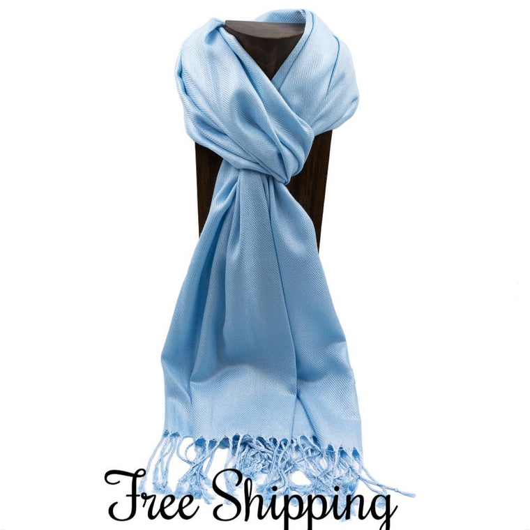 Pashmina Scarf Shawl.Pashmina as a Favor.Pashmina with Personalized Tag.
