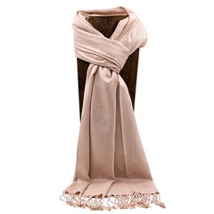 PASHMINA, SHAWL, SCARF NUDE SOLID COLOR