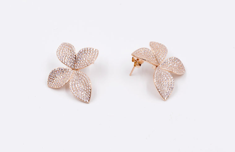 ER2438RG Flower Earrings