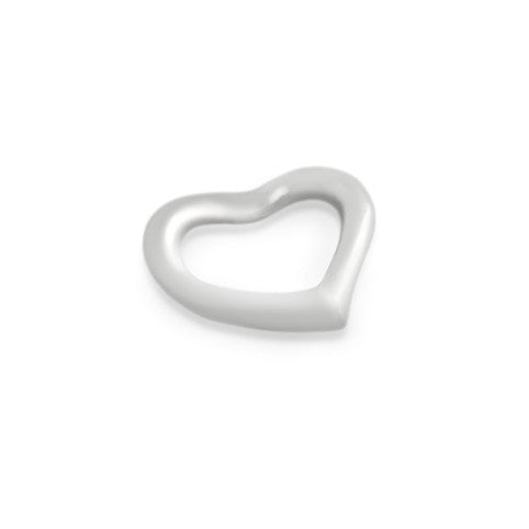 ZDC513  SMALL STERLING SILVER FLOATING HEART PENDANT