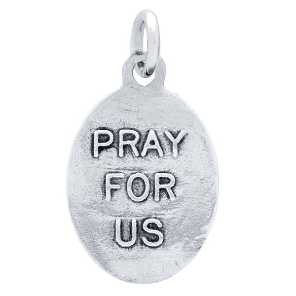 "ZDC1369  DOUBLE-SIDED ""PRAY FOR US"" RELIGIOUS DOVE CHARM"