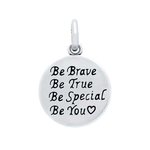 "ZDC1394  14MM ""BE YOU ♥"" ROUND CHARM"