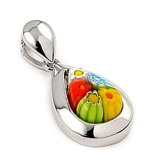 ZDP679  MILLEFIORI MULTI COLOR SMALL DROP PENDANT