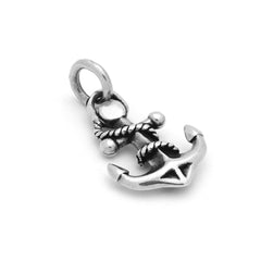 ZDC1512 STERLING SILVER 13MM ORNATE ANCHOR CHARM