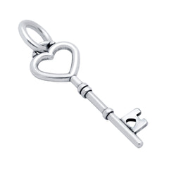 ZDC1229  25MM HEART KEY CHARM
