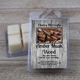 Amber Musk Wood Soy Wax Melts - Cherry Pit Crafts