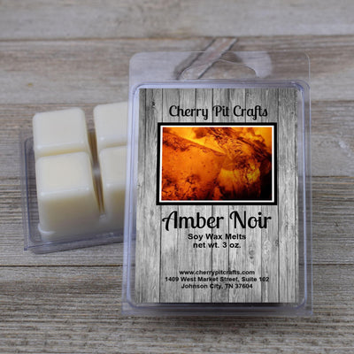 Amber Noir Soy Wax Melts - Cherry Pit Crafts
