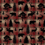 Cherry Pit Heating Pad - Animal Silhouettes on Plaid