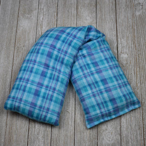 Cherry Pit Heating Pad - Aqua Plaid