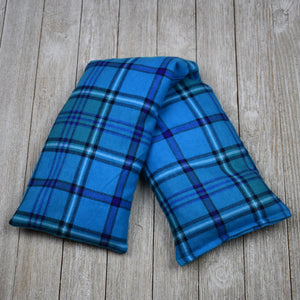 Cherry Pit Heating Pad - Aqua Purple Plaid