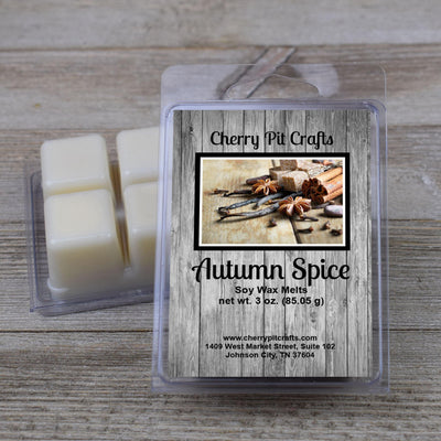 Autumn Spice Soy Wax Melts - Cherry Pit Crafts