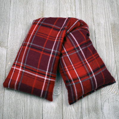 Cherry Pit Heating Pad - Burgundy Plaid