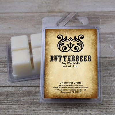 Harry Potter Themed Butterbeer Scented Soy Wax Fragrance Tarts