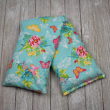 Cherry Pit Heating Pad - Butterfly Lace Garden Teal