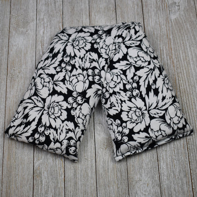 Cherry Pit Heating Pad - Black and White Floral