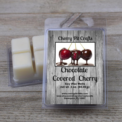 Chocolate Covered Cherry Soy Wax Melts - Cherry Pit Crafts