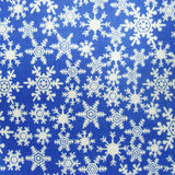 Cherry Pit Heating Pad - Christmas Snowflakes Blue