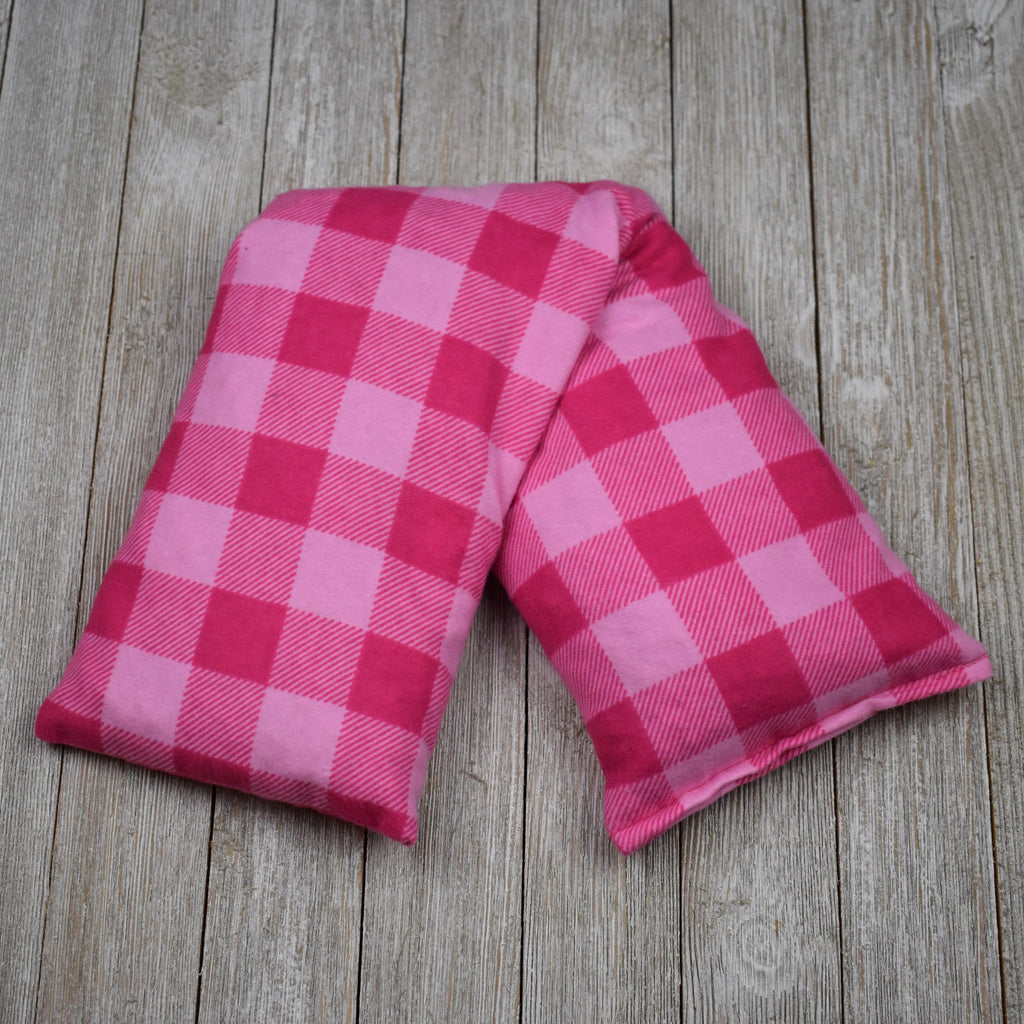 Cherry Pit Heating Pad - Pink Check