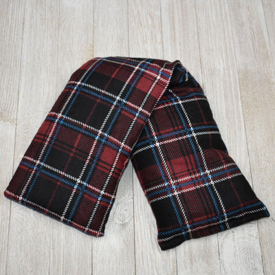 Cherry Pit Heating Pad - Burgundy Black & Blue Plaid